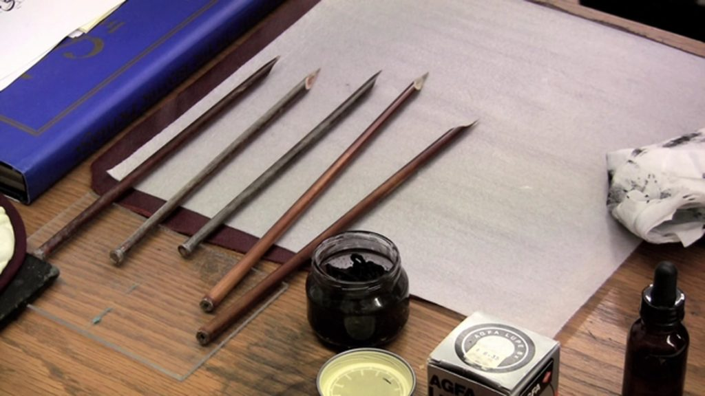 Tools used for Arabic script calligraphy
