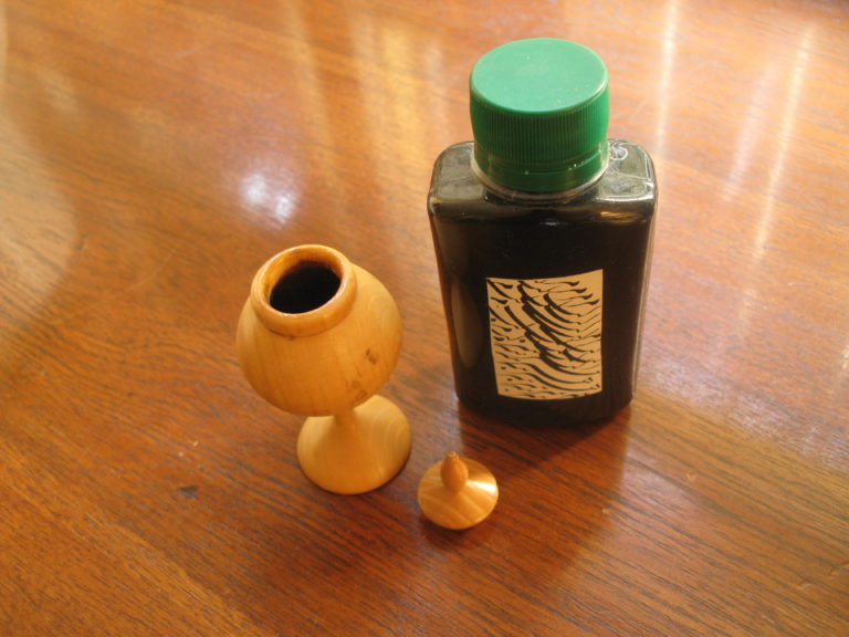 Ink and inkwell